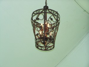 Large Cast Iron Chandelier