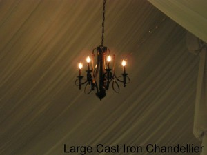 Large Cast Iron Chandellier